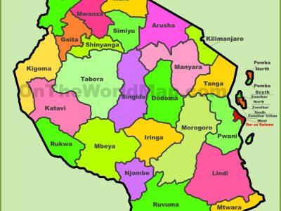 tanzania-regions-map